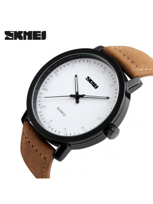 2016 SKMEI Brand Casual Men's Watches Leather Water