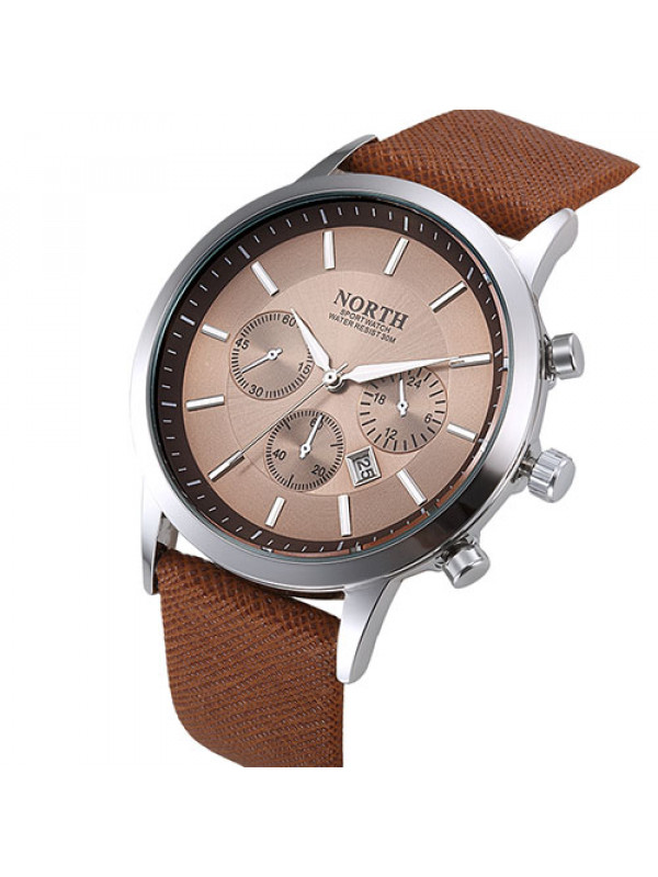 2017 Luxury Brand Quartz Wristwatch Men Leather Watches