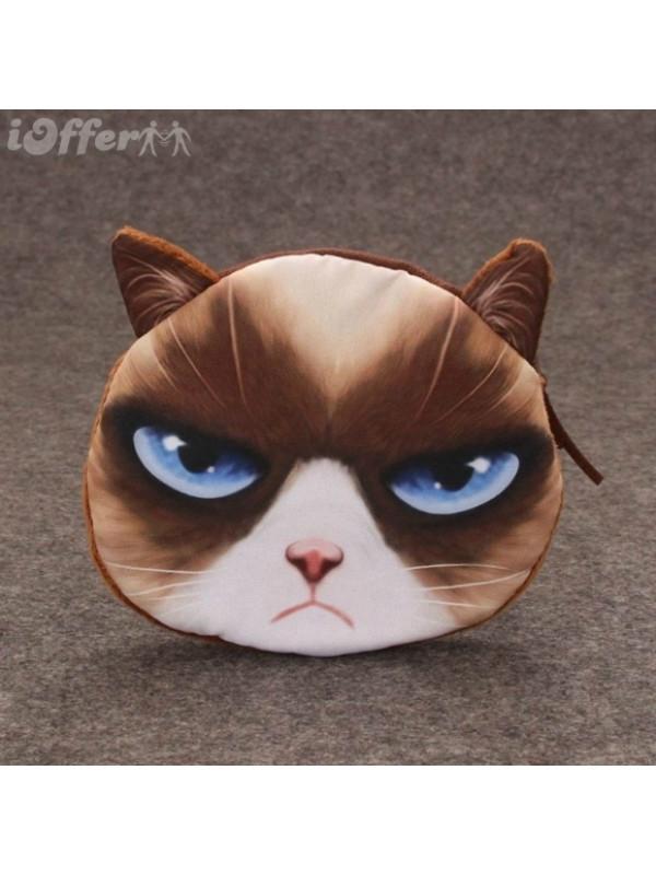 Cartoon 3D Animal Cat Beauty Girl Handbag Wallet