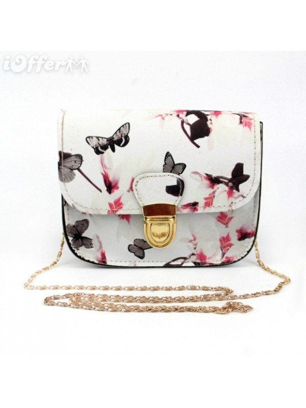 New FAshion Lock Floral Butterfly Printing Mini Bags