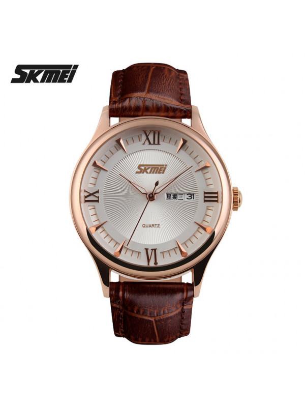 SKMEI Men Brand Dress Watches Men Sport Watch Leather S