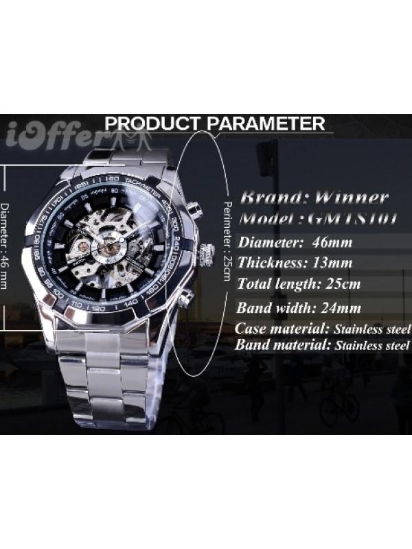 Waterproof Mens Skeleton Watches
